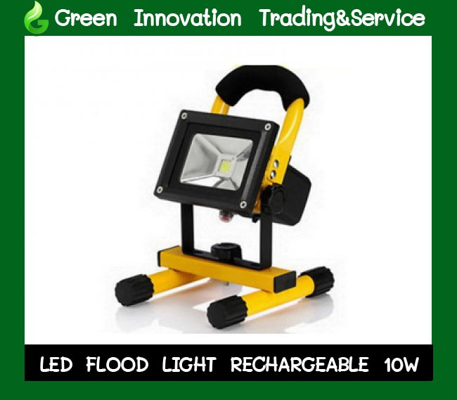 LED Floodlight Rechargeable  10w รหัสสินค้า GFL010