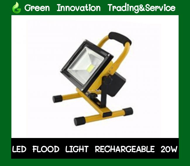 LED Floodlight Rechargeable 20w รหัสสินค้า GFL012
